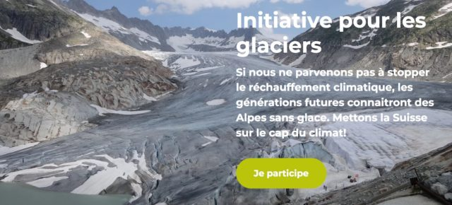 La disparition de nos glaciers