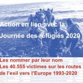 Journée des réfugiés - 20 juin 2020